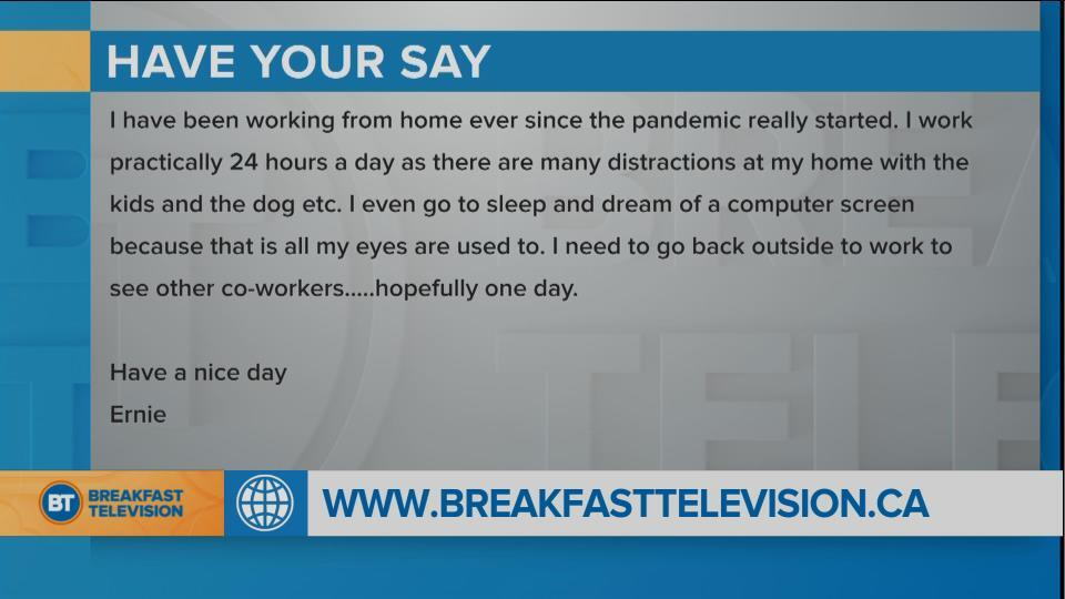 Have you been working longer hours during the pandemic?