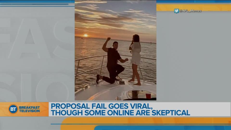 Cringey proposal goes viral
