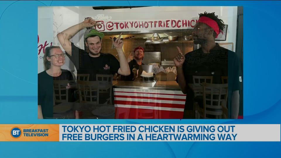 BT Bright Spot: Tokyo Hot Fried Chicken is giving out free burgers to those in need