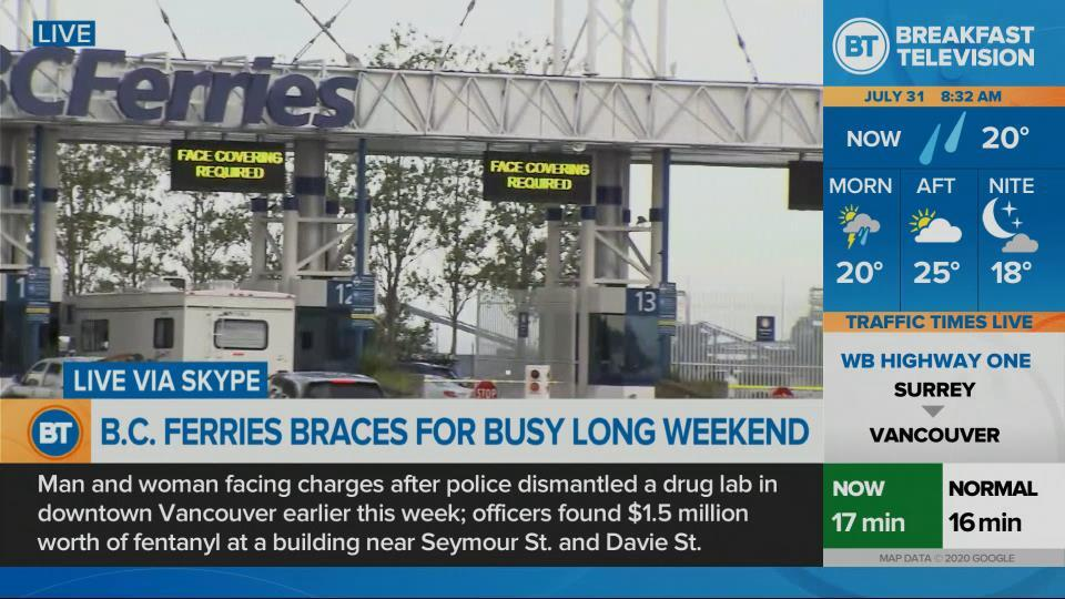 Busy weekend at BC Ferries