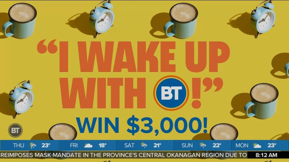 It's Time To Give Away Some Money with 'I Wake Up With BT'