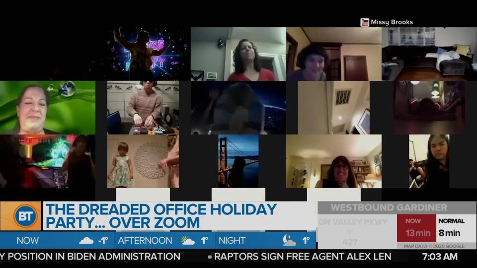 Will you be taking part in the dreaded office holiday party…over Zoom?