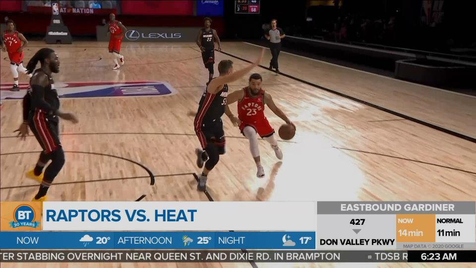 Toronto Raptors win against LA Lakers on Saturday
