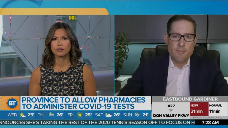 Province to allow pharmacies to administer COVD-19 tests