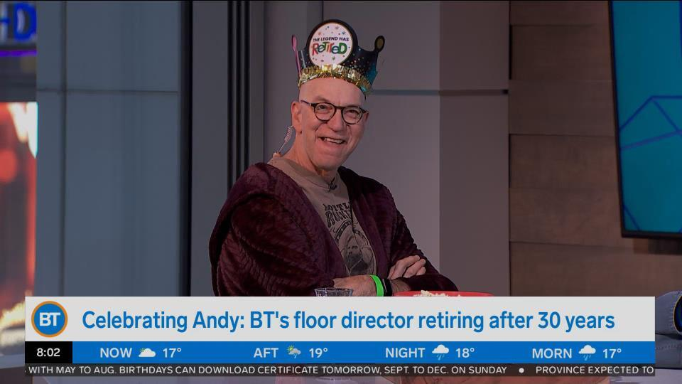 Bright Spot: Celebrating BT floor director Andy retiring after 30 years