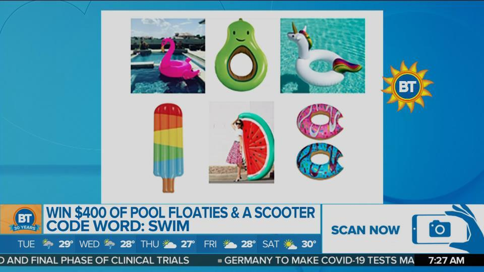 BT Summer Swag Spectacular: Pool Floaties and Scooter