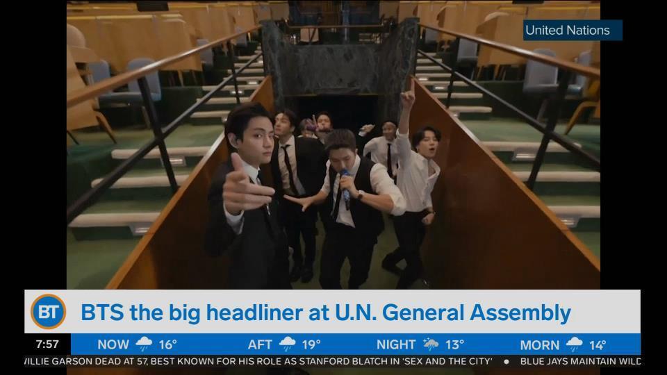 BTS becomes the big headliner at U.N General Assembly