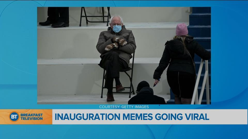 The Viral Bernie Sanders Memes From The Inauguration