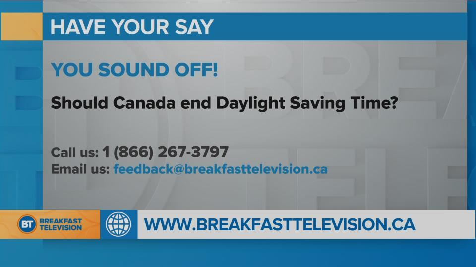 National Sound Off: Should Canada end Daylight Savings Time?