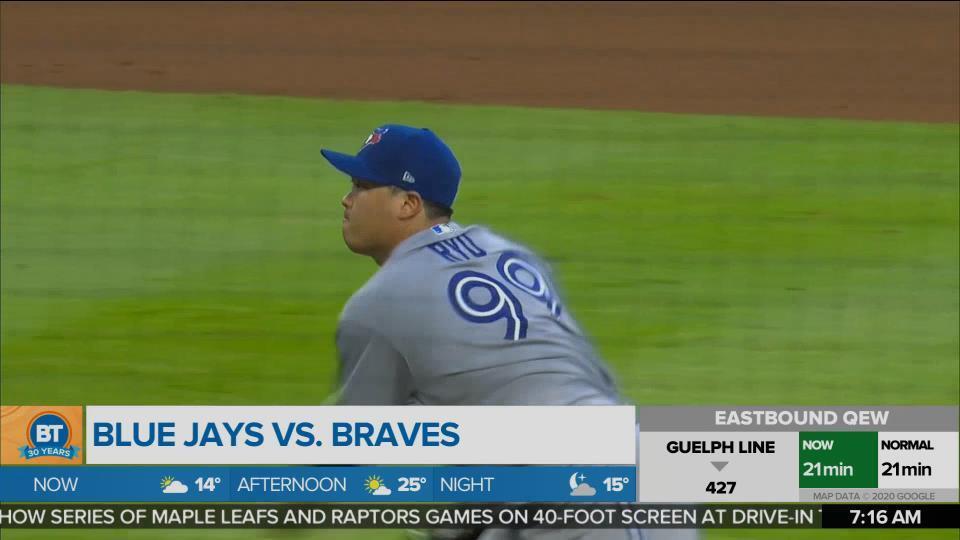 Blue Jays back against the Braves