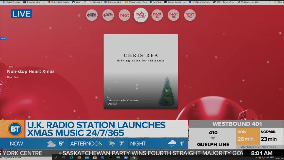 U.K. radio station launches Xmas music 24/7, 365 days a year!