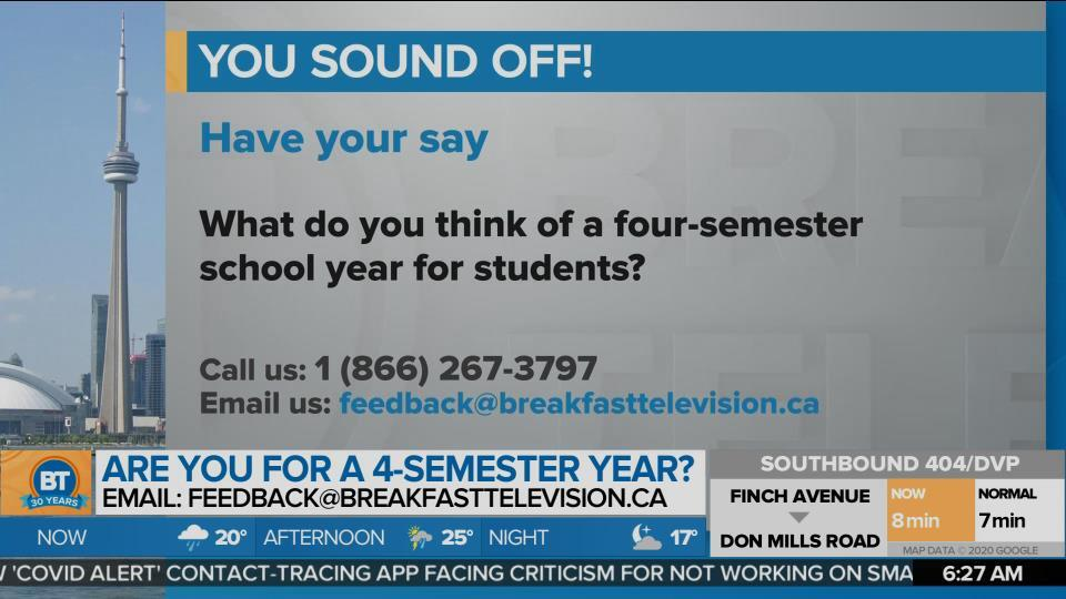 What do you think of a four-semester school year?