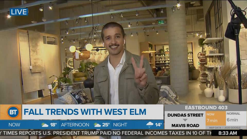 Fall interior design trends with West Elm