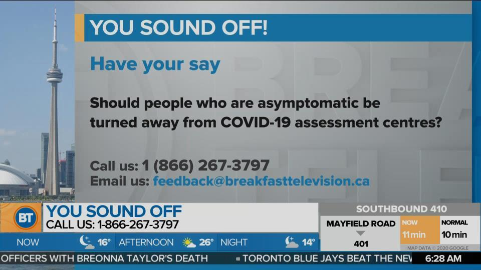 You Sound Off: Should the asymptomatic be turned away from testing centres?