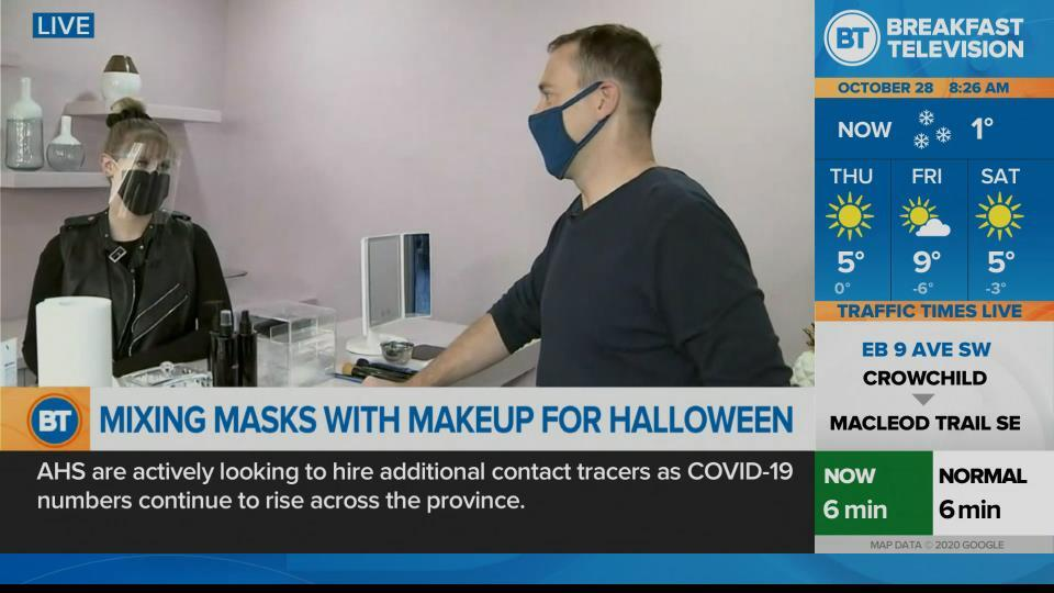 Mixing masks and makeup for Halloween