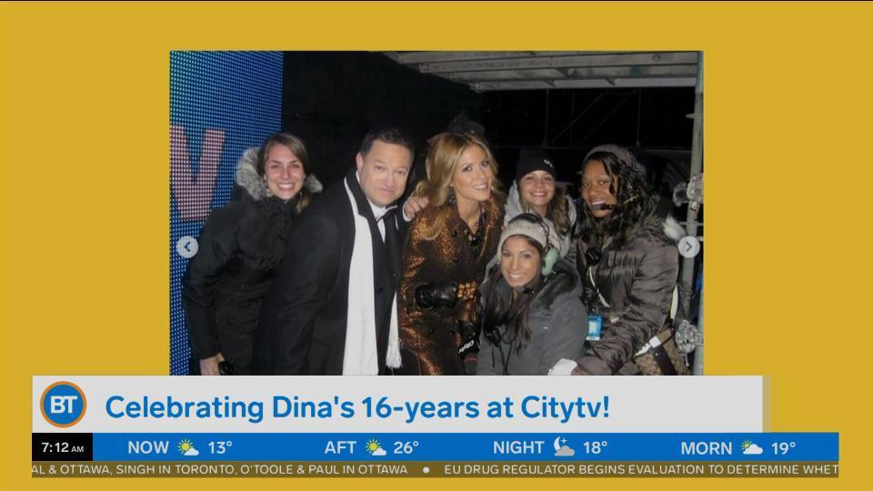 Celebrating Dina's 16-years at Citytv!
