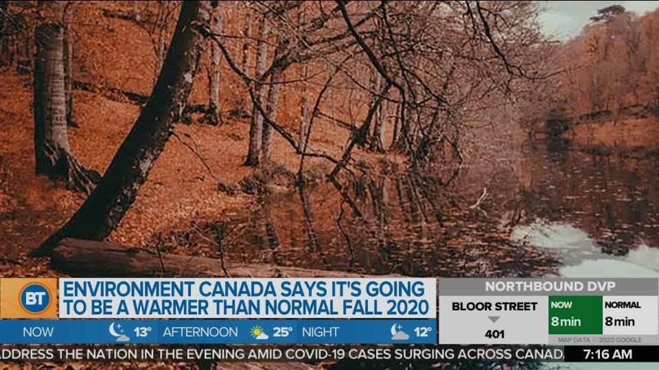 Environment Canada says it's going to be a warmer than normal fall 2020