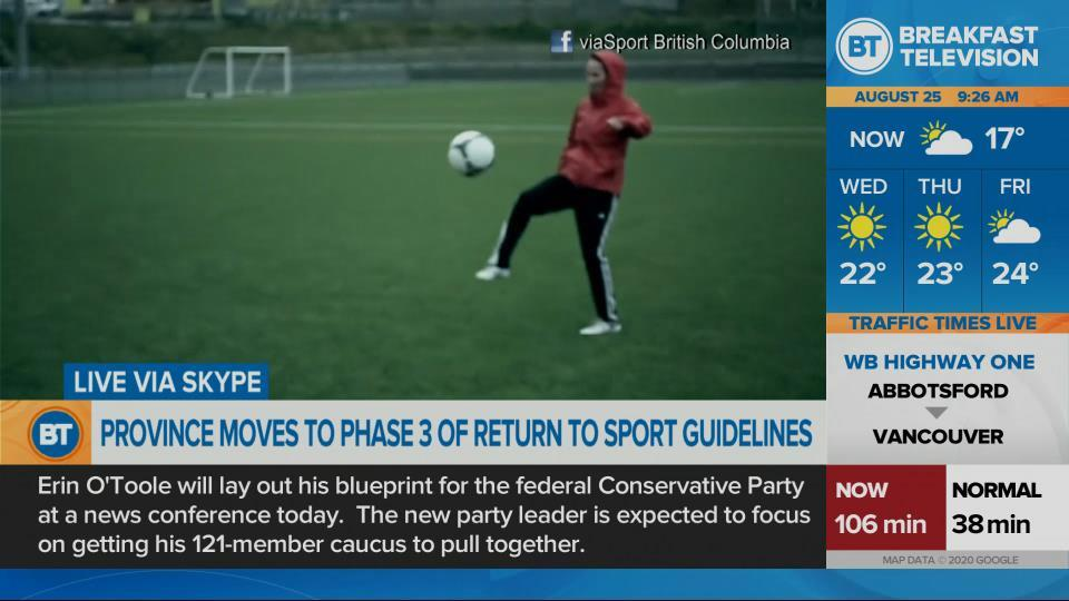 Amateur sport returning in B.C.