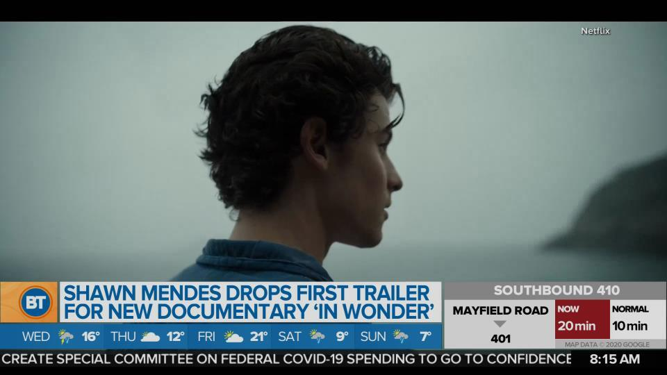 BT Entertainment: Shawn Mendes drops first trailer for new documentary 'In Wonder'