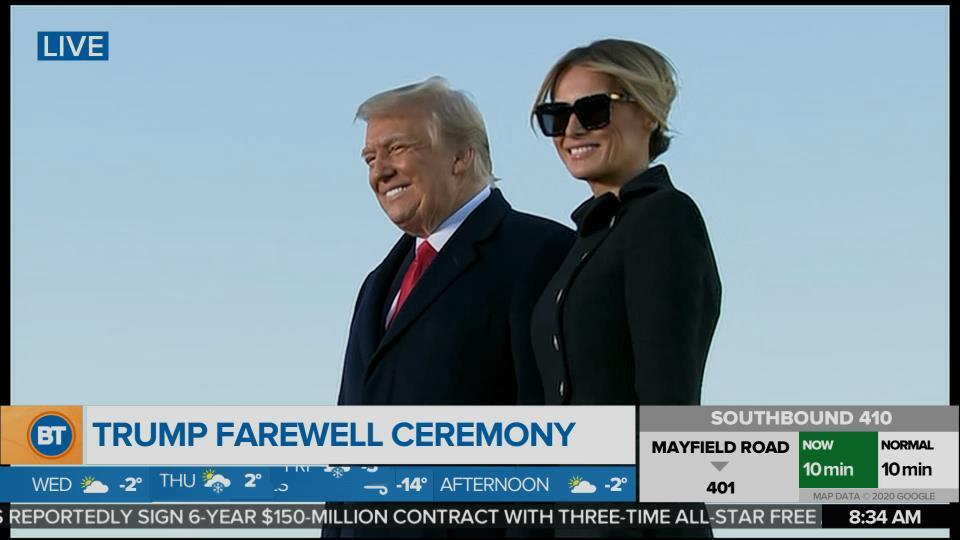 Donald Trump Live at His Farewell Ceremony