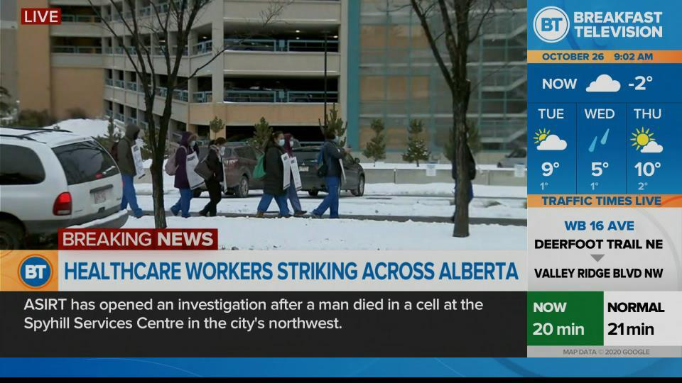On Location AUPE Strike at Foothills Hospital
