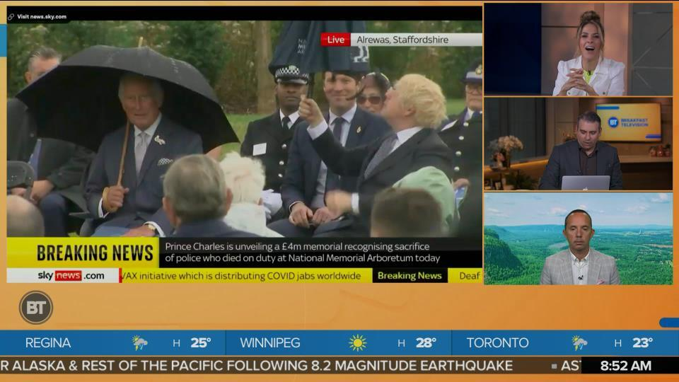 Sid's Play-by-Play of a British Umbrella Situation