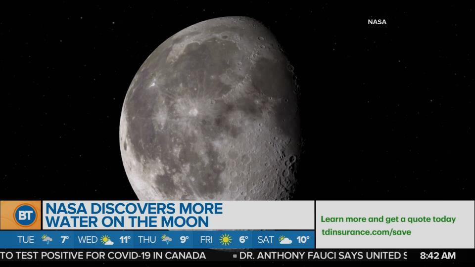 NASA discovers more water on the moon