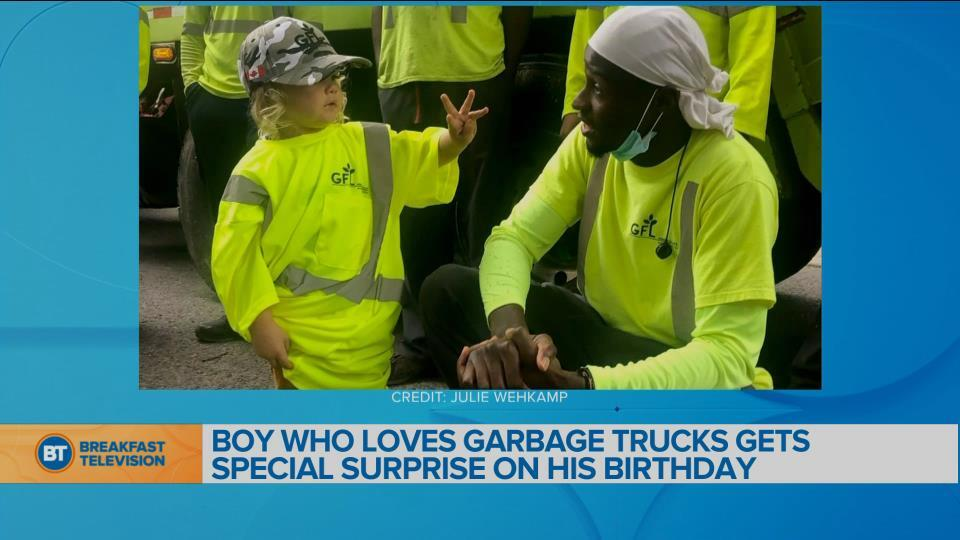 BT Bright Spot: Toronto boy who loves garbage trucks gets a big surprise