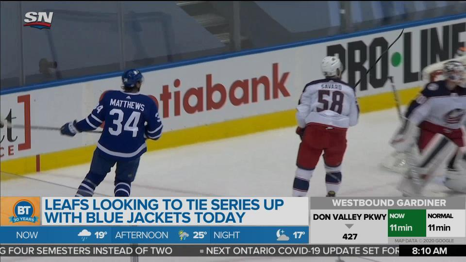 Blue Jackets shut out Leafs in game 1