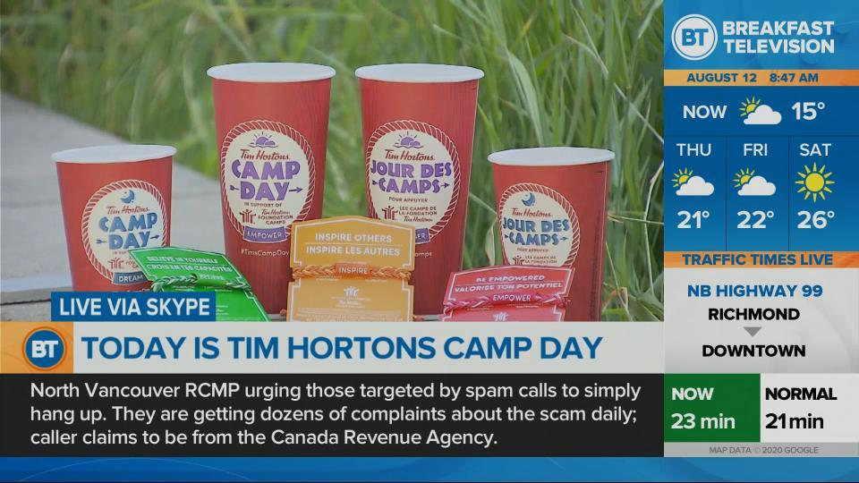 Today is Tim Hortons Camp Day!