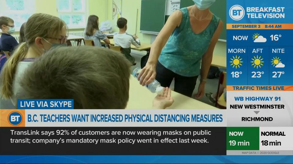 B.C. teachers want more physical distancing