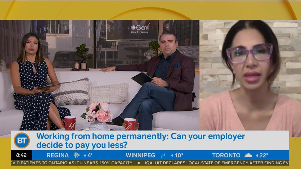 Is your employer allowed to cut your pay if you work at home permanently?