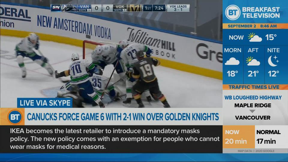 The Canucks stay alive