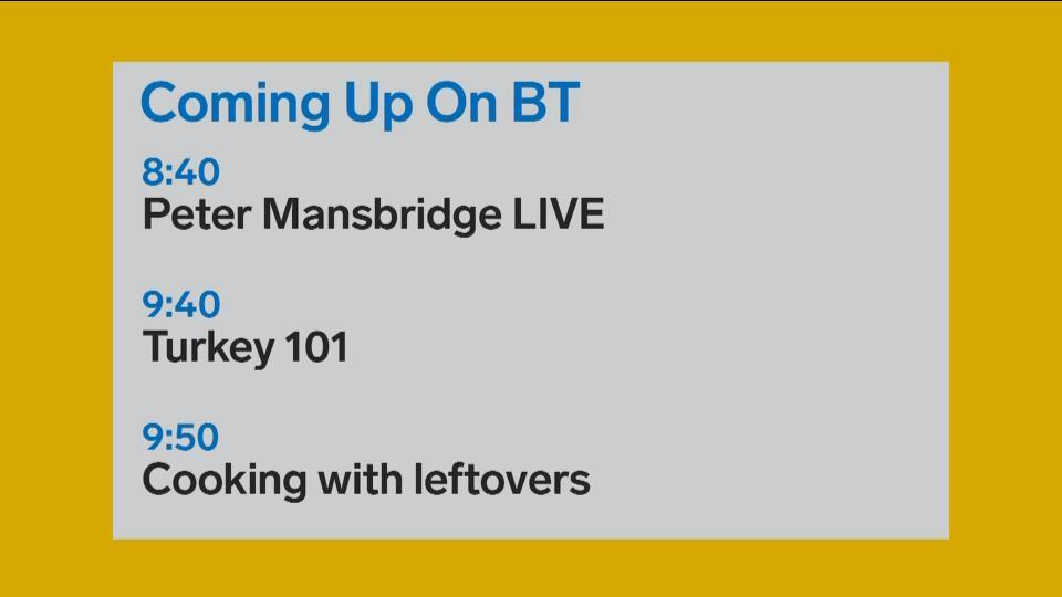 Peter Mansbridge to join BT live!