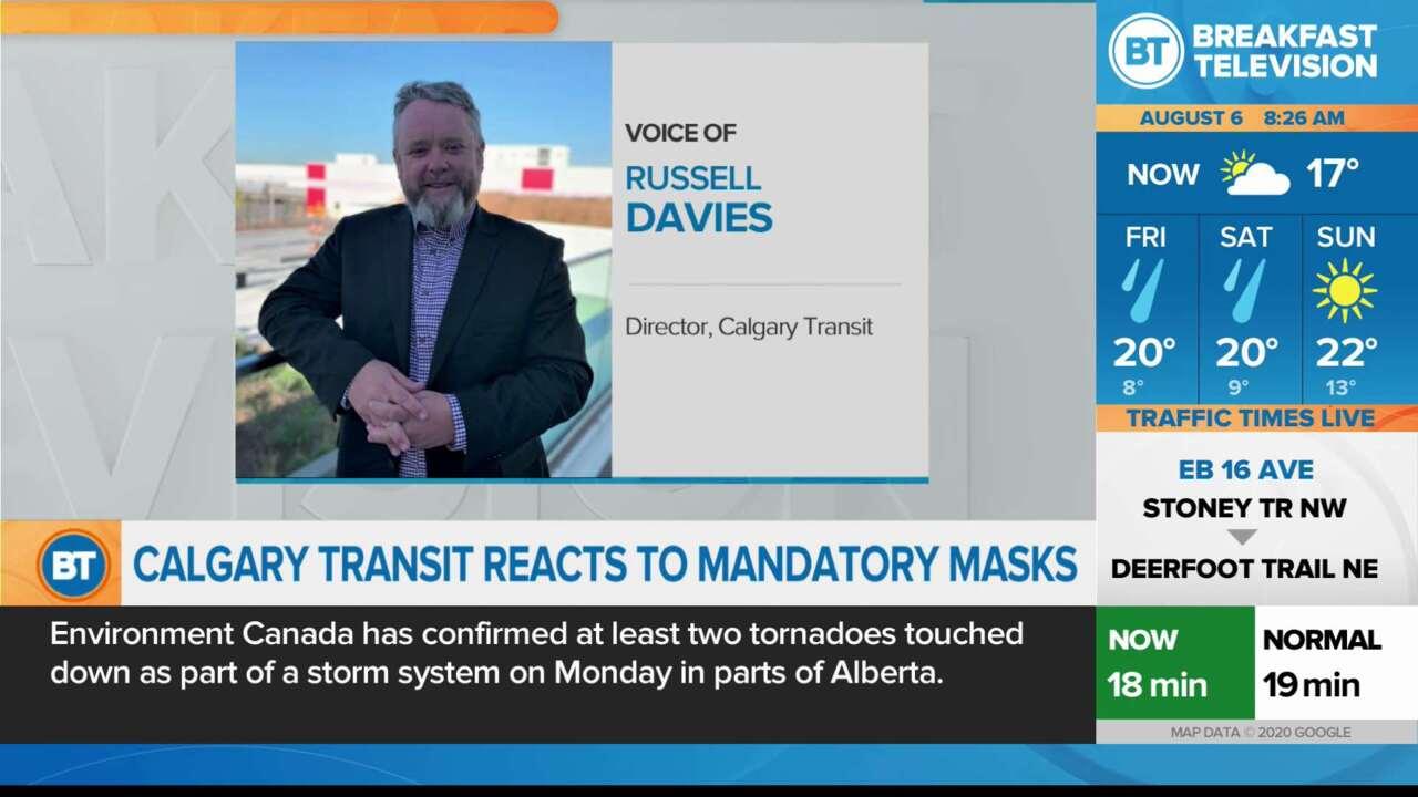 Calgary Transit Reacts to Mandatory Masks