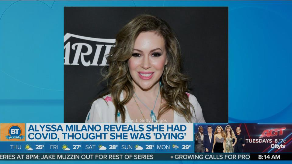 Alyssa Milano reveals she had COVID, thought she was 'dying'