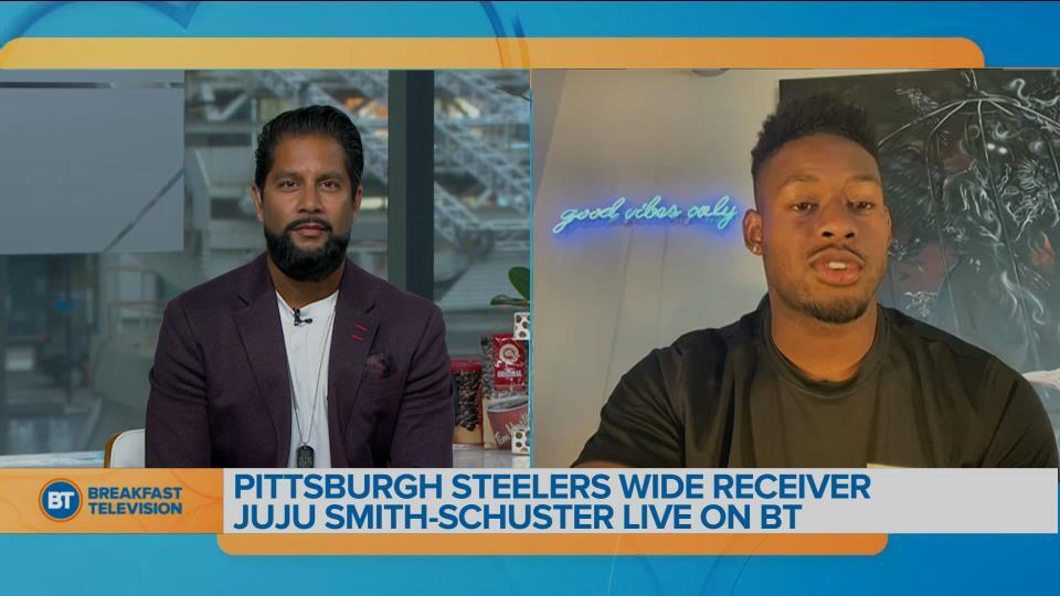 Devo chats with Pittsburgh Steelers Wide Receiver Juju Smith-Schuster