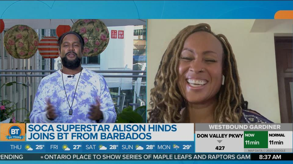 Queen of Soca, Alison Hinds on BT