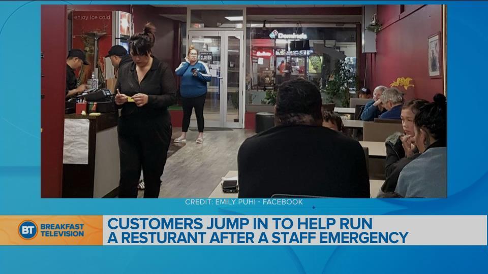 BT Bright Spot: Customer jumps in to help run a restaurant after a staff emergency