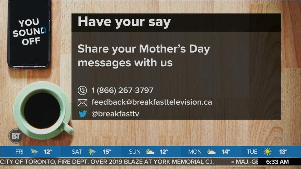 Share Your Mother's Day Messages With Us