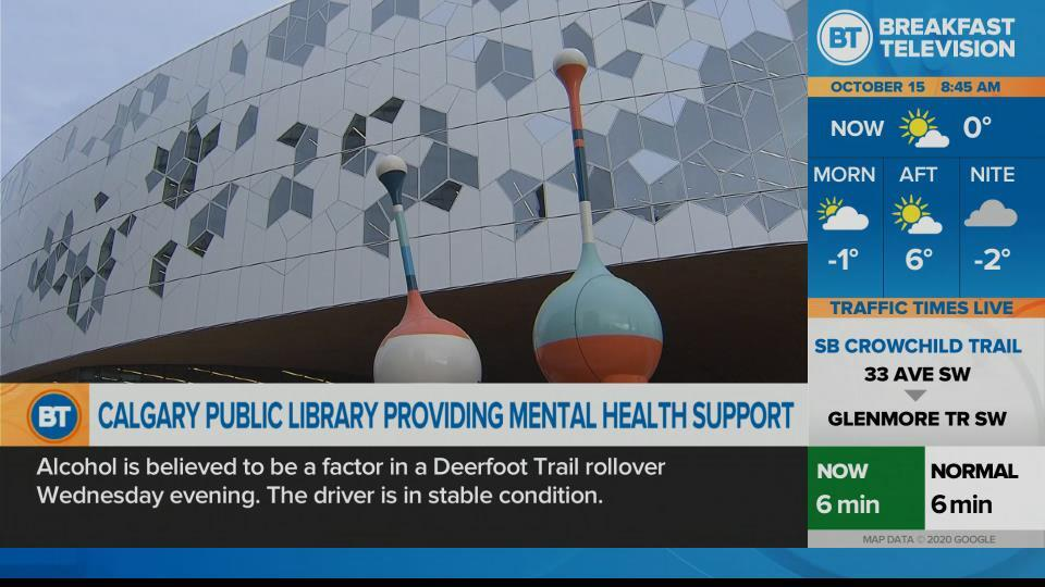 Calgary library opens wellness desk for mental-health services