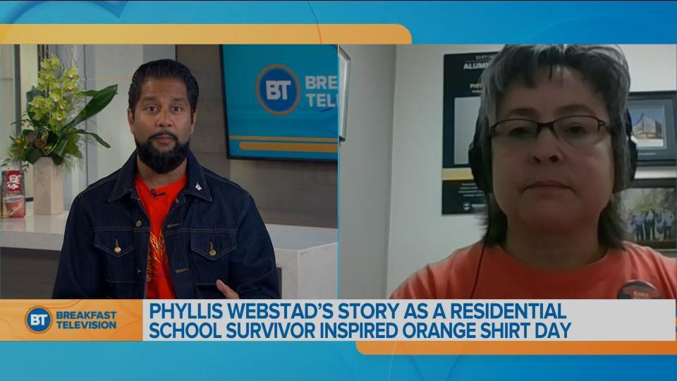 Phyllis Webstad on Orange Shirt Day