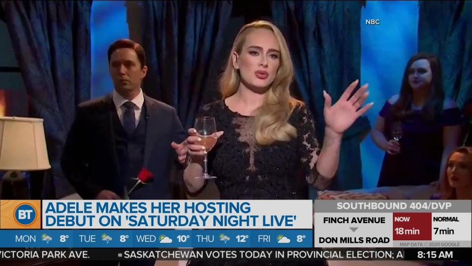 BT Entertainment: Adele makes her hosting debut on 'Saturday Night Live'