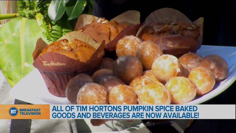 Tim Hortons Pumpkin Spice Baked Goods and Beverages now available!