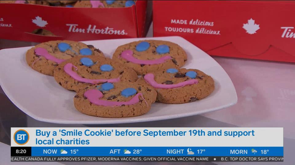 Buy  a 'Smile Cookie' before September 19th and support local charities