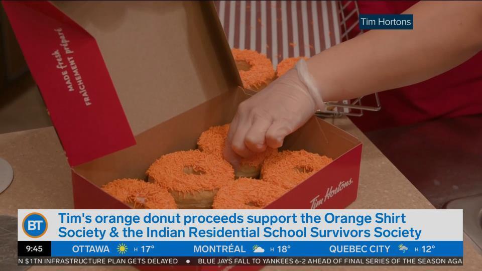 Get Tim Horton's orange donut in support of residential school survivors