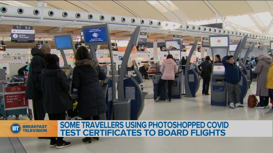 Travellers using photoshopped COVID-19 test certificates to board flights
