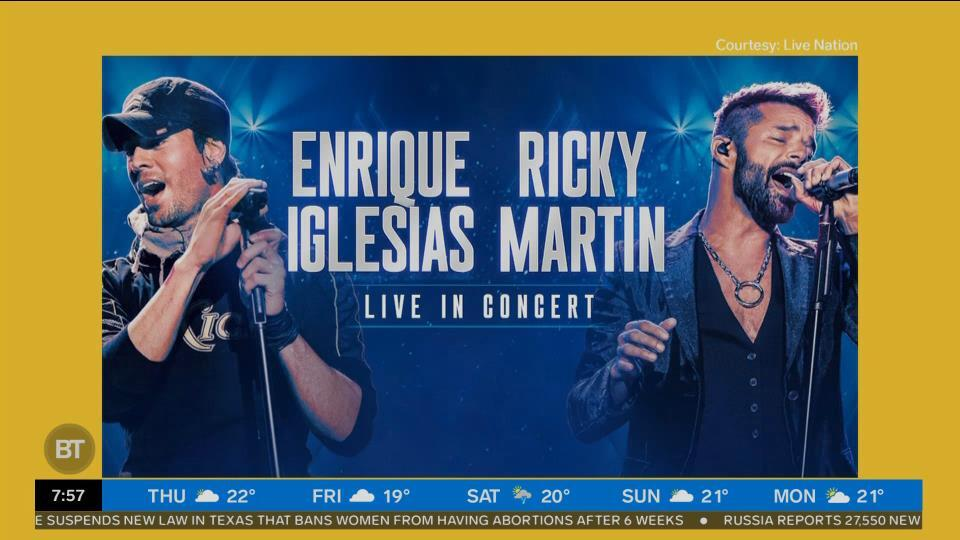 Check out the Enrique Iglesias and Ricky Martin concert!