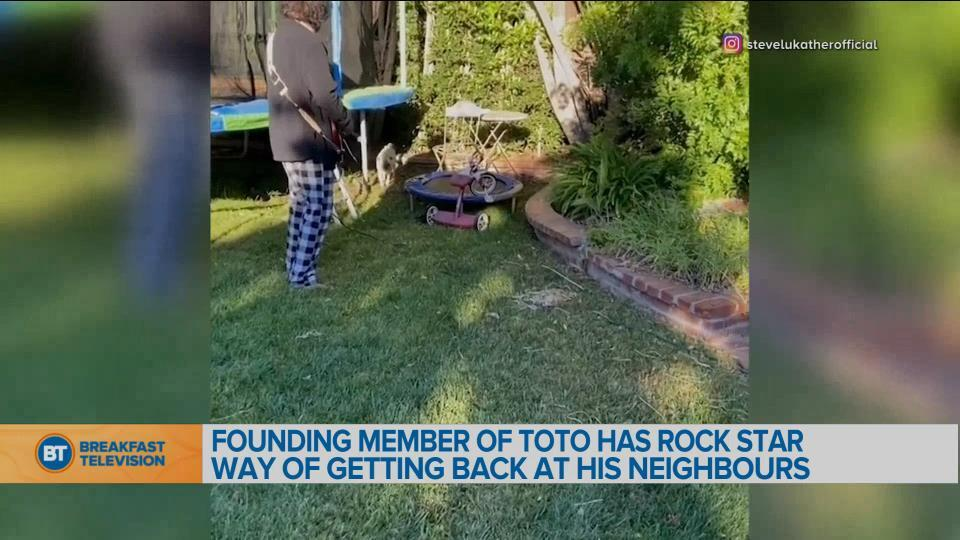 BT Bright Spot: Founding member of Toto has rockstar way of getting back at neighbour