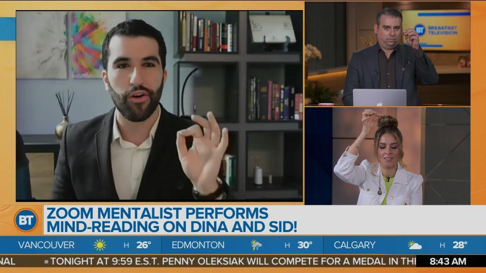 Zoom Mentalist Performs Mind-Reading on Dina and Sid